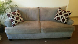 Grey fabric couch - like new London Ontario image 1