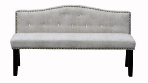 Luxury Upholstered Accent Bench/Ottoman in a sealed box