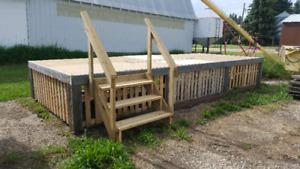 8'x20' Raised wood stage or deck!