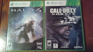 JEUX  XBOX 360 5$Halo 4/ 5$ Call of duty GHOSTS