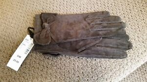 Brown suede gloves - Ladies NEW WITH TAGS