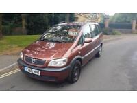 2001 Vauxhall Zafira 1.6i 16v Comfort MPV 7 Seats Manual Brown 2 Keys