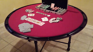 Poker table and chips - $200