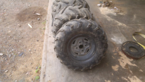 Maxxis Mud Bug tires and rims 4 110. 70% tread