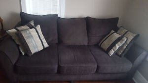 Clean. 2 year old couch an love seat. Must go