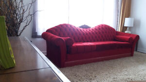 Sofa Couch RED Bordeaux style