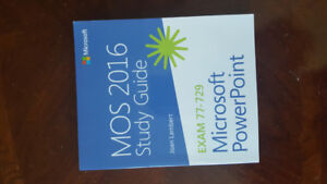 MOS 2016 study guide, Microsoft excel,word, outlook, PowerPoint
