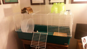 Large cage for small pet- great starter pack
