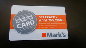 $172.00 gift card to marks for $100