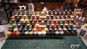 Tamiya Acrylics, Alclad and Testors Metalizers, Thinners, Stands