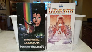 Michael Jackson's Moonwalker & David Bowie's Labyrinth (VHS)