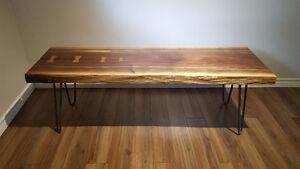 Hand Crafted Live Edge Coffee Table - Walnut