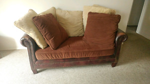 Leather & Suede Love Seat