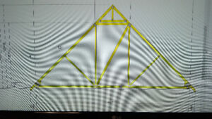 Engineered Roof Trusses (12/12 pitch)