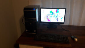 "Gateway Desktop PC + 18.5"" LCD Monitor"