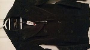 Manteau en Corduroy gris avec ceinture XS