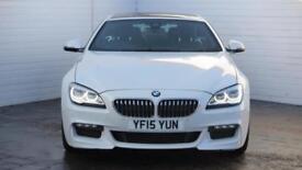 2015 BMW 6 Series 2015 15 BMW 6 Series 640D 3.0 D M Sport Coupe Diesel white Aut