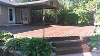 QUALITY DECK & FENCE STAINING & PAINTING FOR LESS 204-230-0853