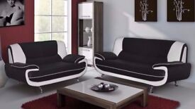 """Fantastic Brand New 3+2 Seater Carol Sofa in Black and Grey White And Black"""" Color!! ORDER NOW"""