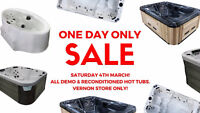 1 DAY FLASH SALE: Demo & Reconditioned Hot Tubs