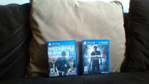 PS4 games Watch dogs 2 and Uncharted 4