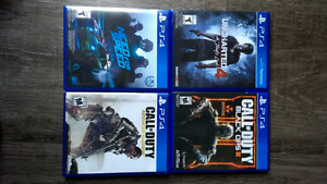 PS4 Games for trade