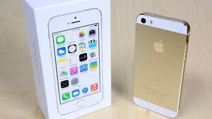 iphone5S unlock gold boite chargeur écouteurs case batterie un +