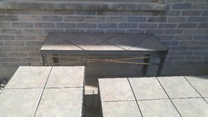 Patio stone/metal 3 pieces and metal fire pit