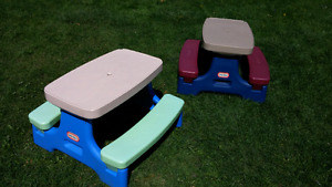 Two Little Tikes pinic tables for sale $30 each