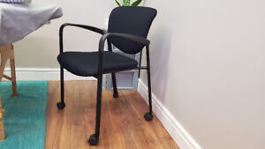 10 - Haworth Office Chairs with casters