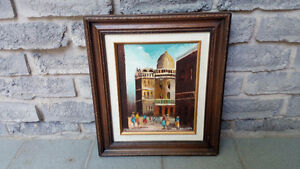 OIL ON CANVAS MIDDLE EAST CITYSCAPE