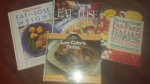 4  lose weight Cookbooks  only 5 dollars for all.