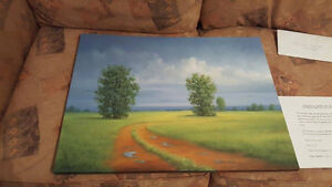 Original oil painting by local Montreal artist Gail Descoeurs