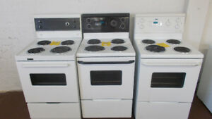 24 inch apartment size stoves. 90 day warranty.