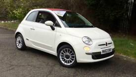 2013 Fiat 500 1.2 Lounge 2dr (Start Stop) Manual Petrol Convertible