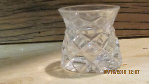 Small cut Glass Vase or Candle Hoder