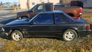 1989 mustang coupe rolling chassis