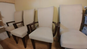 Set of 6 Parson Chairs w/ Armrest