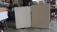 2 Large blank stretched canvasses