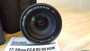 Sigma 17-50 2.8 (Nikon DX Compatible) $250.00