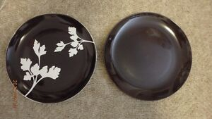 "Charger plates, 12"" diameter, 10 total"