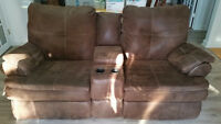 Sectional - Couch, Loveseat and Corner Wedge with 4 recliners