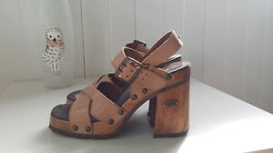 ~ * ~ Suede Tan High Heel Sandals from Transit ~ * ~