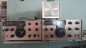 Vintage ham radio equipment for sale.