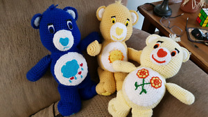Carebear hand knit collectors bears