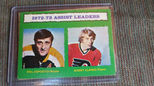 1972-73 NHL assist leaders(Esposito/Clarke)
