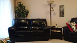 Two Loveseats (incliners) and one electric recliner.