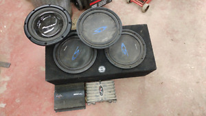 4subs 1 box 2 amps