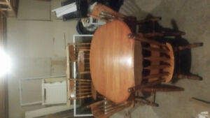 table and 6 chairs + china cabinet