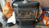 Gas fireplace stove style
